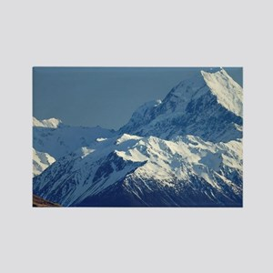 Aoraki Mount Cook and Lake Pukaki Rectangle Magnet